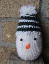 Knit snowman ornament.