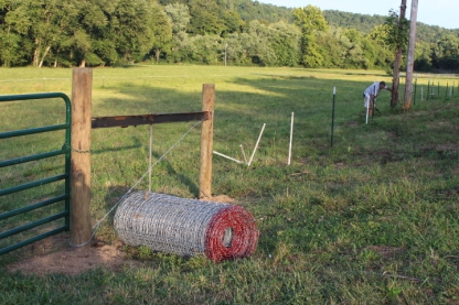 Every post was dug or tamped by hand. A mulit-year project, when completed the new fences will provide for improved grazing and animal safety.